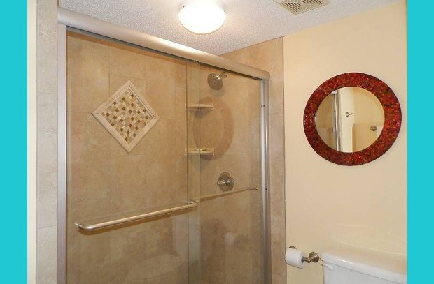 Richly updated master shower!