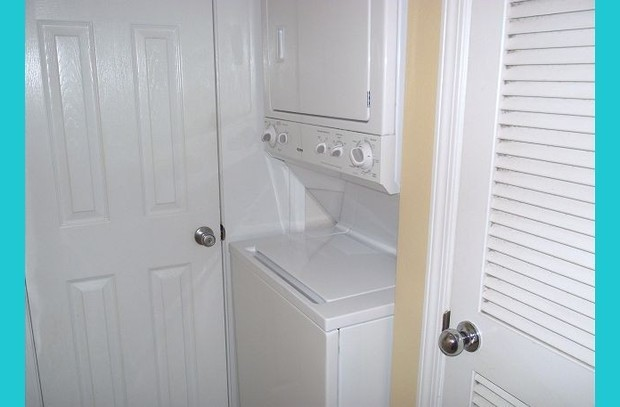 Washer/dryer in unit for your convenience!
