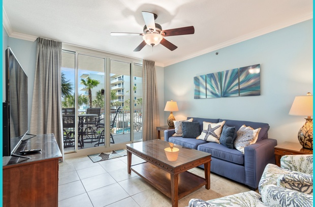 Enjoy and ocean view and the water park amenities in Waterscape A206